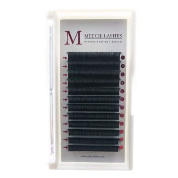 0.07 D curl 14mm Volume eyelash extension